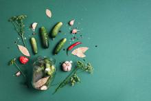 Marinated Pickled Cucumbers Wi...
