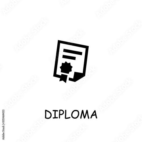 Photo Diploma, Attestation flat vector icon