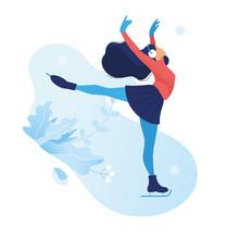 Ice Figure Skating Graceful Gi...