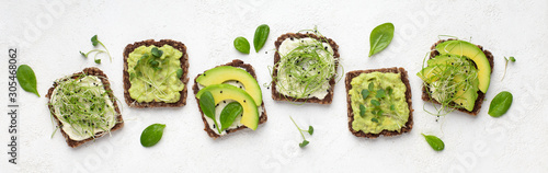 dietary-fitness-toast-with-avocado-tofu-cheese-and-microgreen