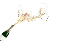 Champagne Explosion Isolaed On...