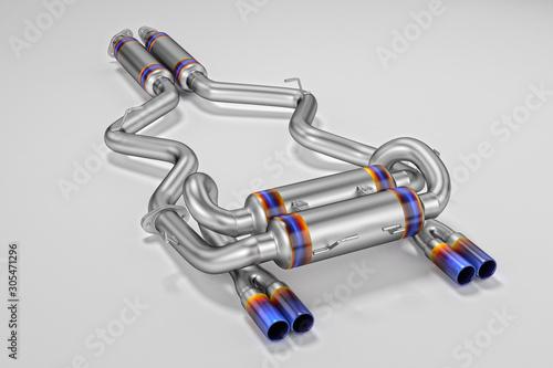 Fényképezés Tuning exhaust system for a sports car