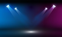 Stage Podium With Lighting, St...