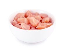 Raw Chicken Fillet In Bowl Iso...