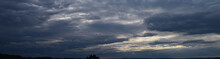 Panoramic Photo Of The Sky. La...