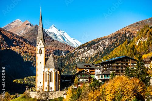 Montage in der Fensternische Honig village heiligenblut near the grossglockner mountain
