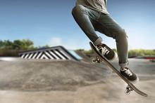 Skateboarder Skateboarding At ...