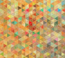 FototapetaVintage style old fashion colors triangle mosaic background.