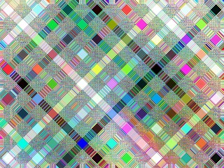 FototapetaColorful square mosaic background with diagonal lines and sweet pastel color tone.