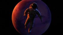 Astronaut Waving During A Spac...