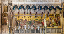 Inside The Church Of The Holy Sepulchre, The Greatest Christian Shrine In Jerusalem, Israel