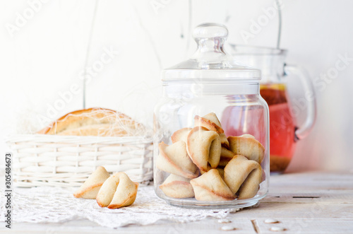 Fotografia Fortune cookies  in glass jar