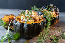 Baked Acorn Squash Bowl With S...