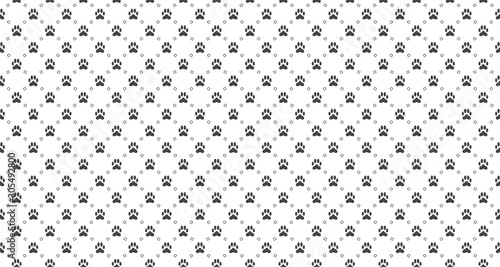 obraz lub plakat Pet print seamless pattern. Abstract animal vector background.