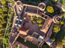 Aerial View Above Of Castle Of...