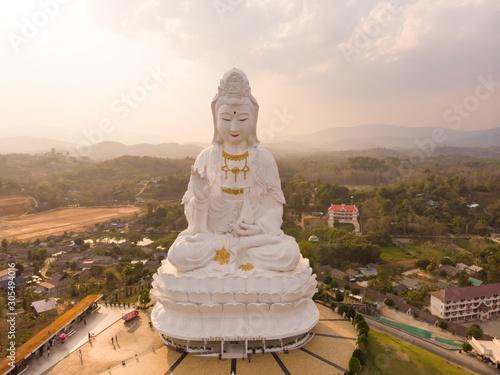 Fotobehang Historisch mon. Aerial view of Wat Huay Pla Kang temple complex, Thailand.