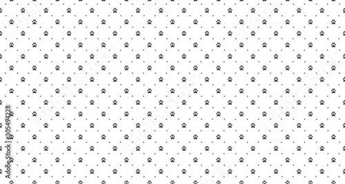 Fototapeten Künstlich Pet print seamless pattern. Abstract animal vector background.