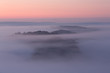 A few minutes before sunrise, the fog lifts