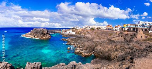 El Cotillo - scenic village in northern coast of Fuerteventura, Canary islands
