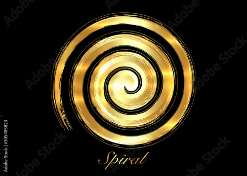 Photographie Gold Ancient Spiral