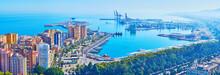 Bird's Eye View Of Malaga Port...
