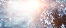 Winter Christmas Background, S...