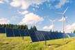 canvas print picture - Erneuerbare Wind und Sonnen Energie Produktion