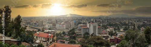 Panorama of the Capital City of Ethiopia, Addis Ababa