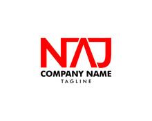 Initial Letter NAJ Logo Template Design