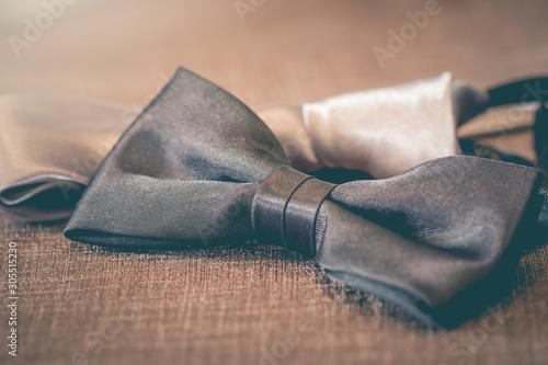 Fototapeta Bow tie accessory used  for men's  clothing. obraz