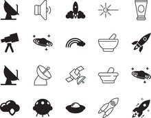 Space Vector Icon Set Such As:...