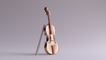 Bronze Violin And Bow Front Vi...