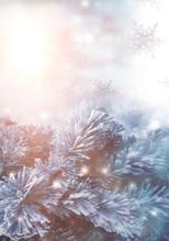 Winter Abstract Blue Backgroun...