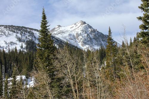 Colorado Mountain with snow