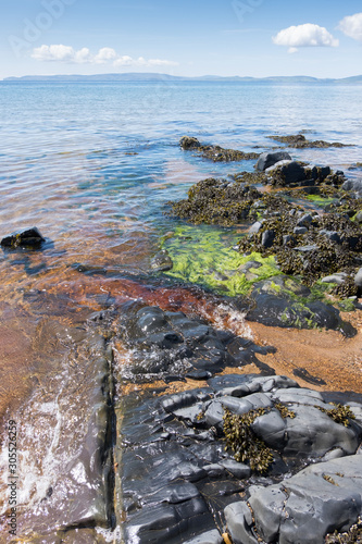 Blackwaterfoot on the Isle of Arran in Scotland Canvas Print