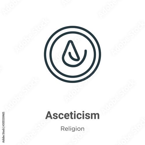 Asceticism outline vector icon Wallpaper Mural