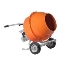 Orange Concrete Mixer Isolated...