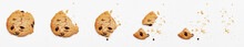 Steps Of Chocolate Chip Cookie Being Devoured