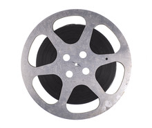 Old Film Reel Isolated On White Background
