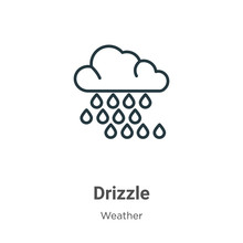 Drizzle Outline Vector Icon. T...