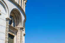Detail Of The Baptistery Of Pisa During A Sunny Day