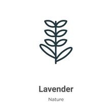 Lavender Outline Vector Icon. ...