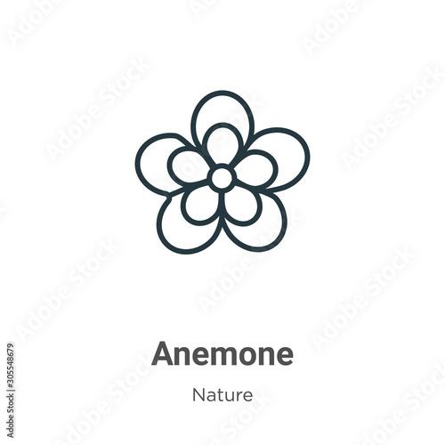 Foto Anemone outline vector icon