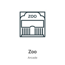 Zoo Outline Vector Icon. Thin ...