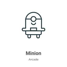 Minion Outline Vector Icon. Th...