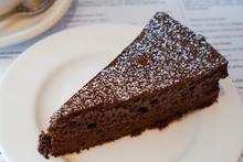 Flourless Chocolate Cake On A Plate