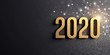 Leinwanddruck Bild - New Year gold date 2020 for Greeting card
