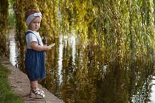Little Girl In Denim Overalls ...