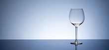Simple Empty Clear Wine Glass ...