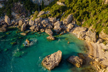 Aerial Shot Of A Lagoon In Med...